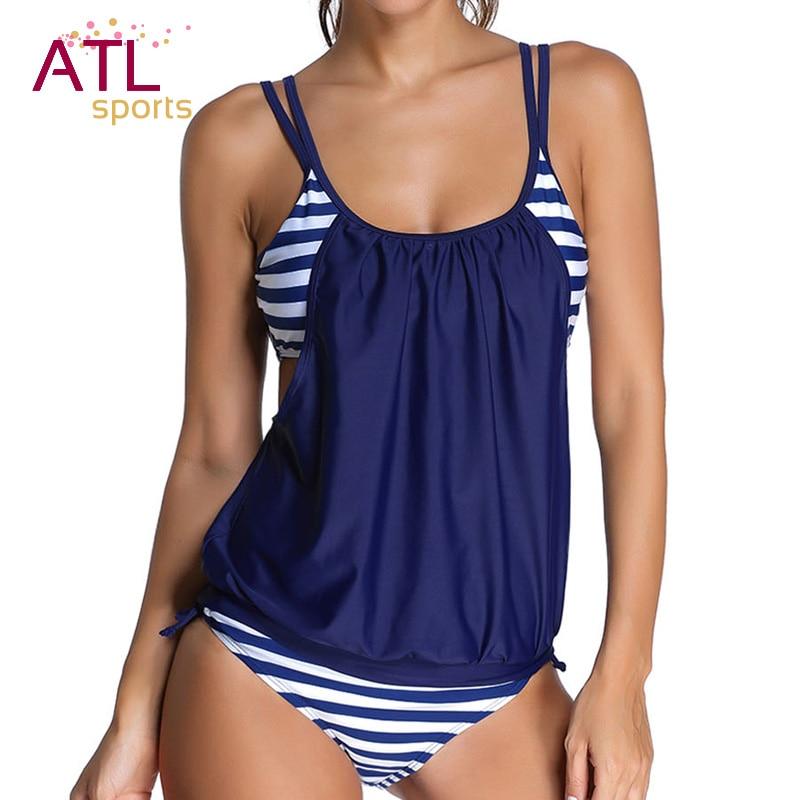 672036a25 maio feminino praia 2018 biquini plus size cintura alta Tamanho grande  Swimwear Women Feminino Maiô Listrado Com Short Tankini maios e biquinis  infantil ...