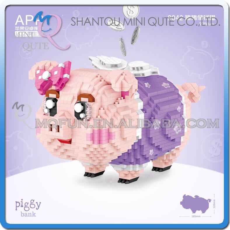LOZ diamant blocs tirelire animal Anime figurine mini brique Mirco blocs de construction jouets éducatifs pour les enfants