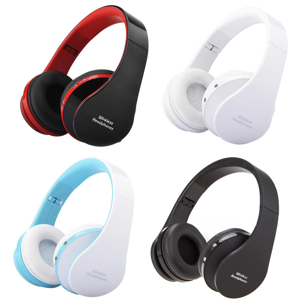 Top Foldable Bluetooth Wireless Headset Sport Stereo Headphone Earphone Handfree Mic Color:Black&Red/White/White&Blue/Black economic set original nia q1 8 gb micro sd card a set bluetooth headphone wireless sport headsets foldable bluetooth earphone