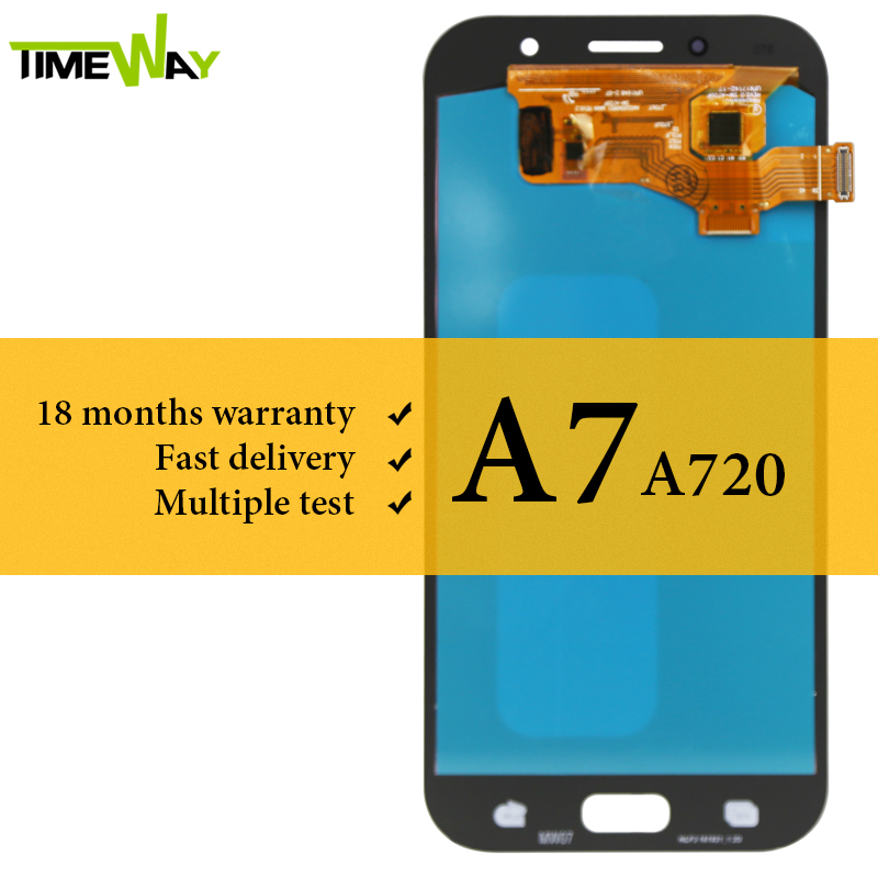 Grade <font><b>LCD</b></font> For <font><b>Samsung</b></font> A7 2017 <font><b>A720</b></font> <font><b>LCD</b></font> Display With Digitizer Touch Screen 5.7 Inch Assembly For <font><b>Samsung</b></font> A7 2017 <font><b>A720</b></font> Screen image