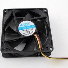 8 см x 8 см x 2,5 см новые 3Pin 12V компьютер PC Процессор бесшумный 8025 охлаждающий вентилятор в корпусе 6M7 Прямая