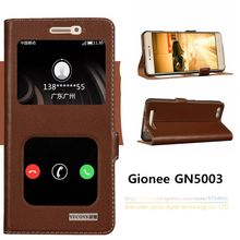 Top Quality Natural Genuine Leather Magnet Flip Stand Cover Case For Gionee GN5003 Luxury Mobile Phone for Gionee GN5003(China)