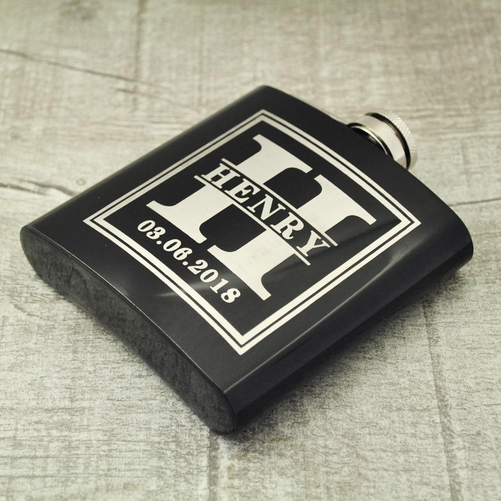 Wedding Gifts For Ushers And Best Man: Custom Flask Groomsmen Gift Engraved Wedding Hip Flasks