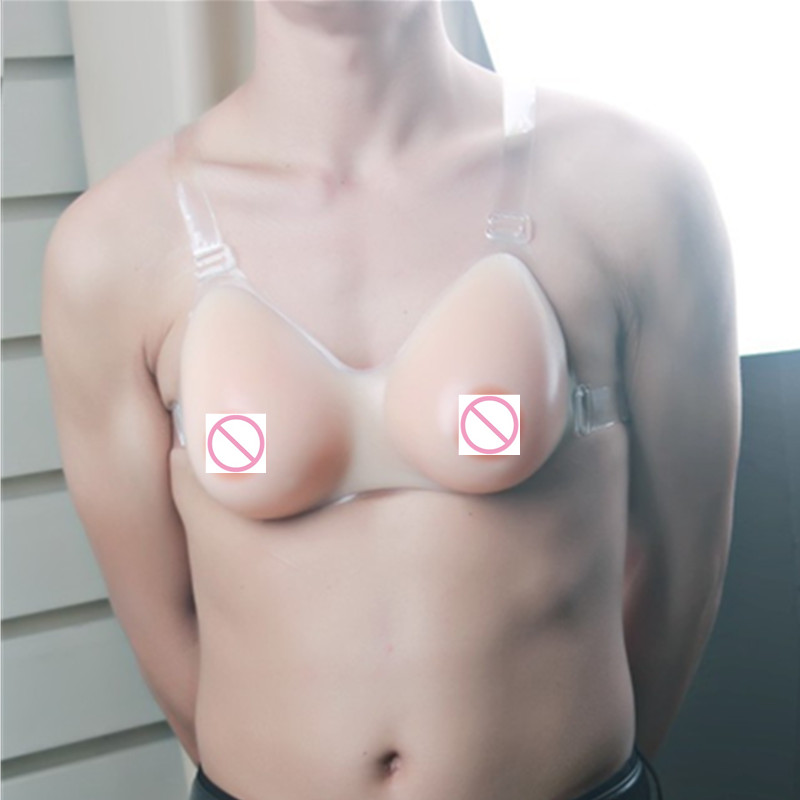 800g/piece B/C Cup Self-adhesive Available Silicone Breast Forms False Breast Silicone Boobs Forms With Shoulder Straps Nipple personal breast health scanner helps detect potential masses during in home breast self exams