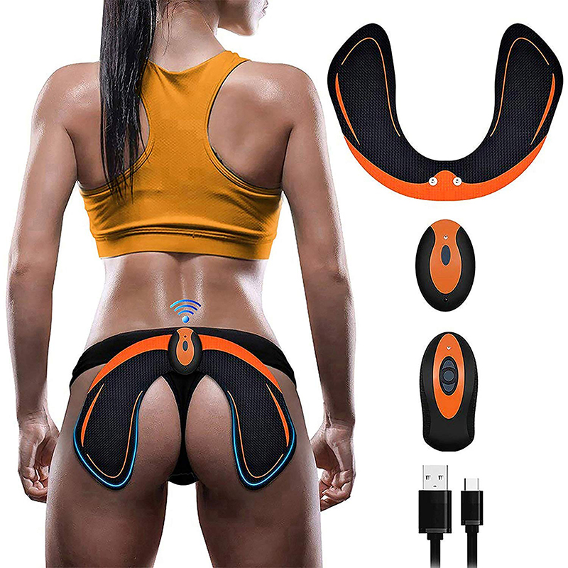 ABS Stimulator EMS Hip Trainer Butt Toner With Remote Control Home Fitness Massage Bodybuilding Slimming Machine Muscle Training image