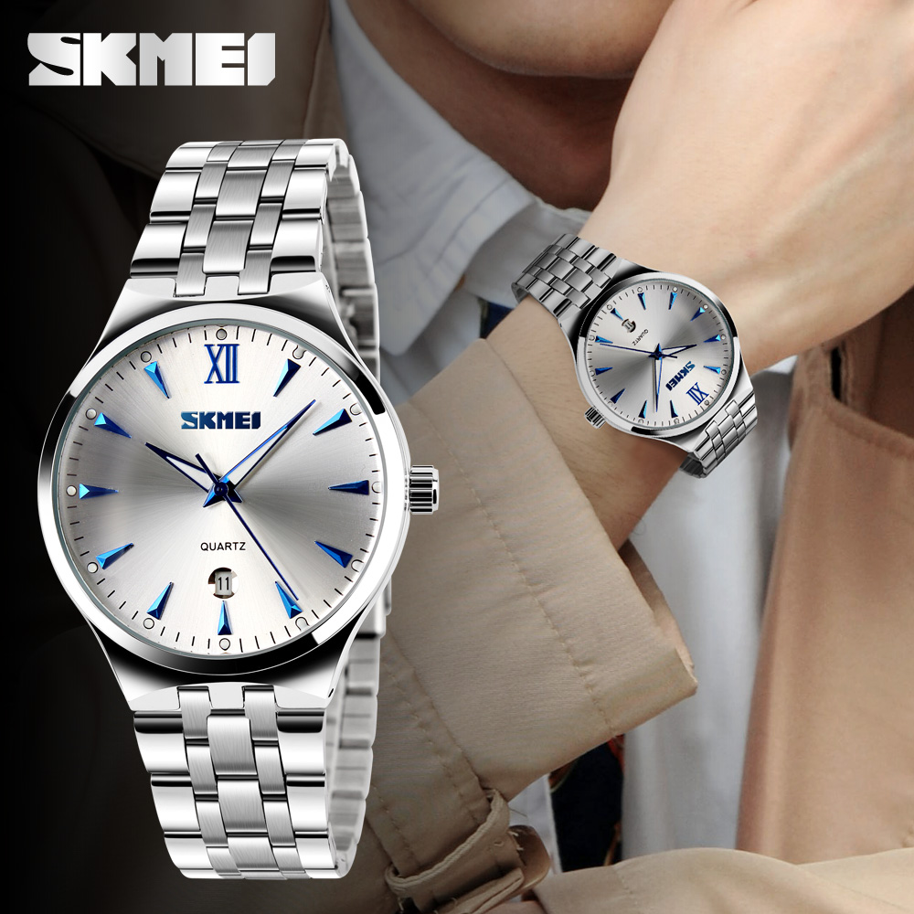 SKMEI Mens Watches Top Brand Luxury Calendar Fashion Watch 3Bar Waterproof Quartz Wristwatches Relogio Masculino 2019