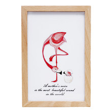 European Wooden Pink Flamingo Photo Frame Music Box Gifts For The New Year Multi-Function Creative Crafts Photo Album Home Decor(China)