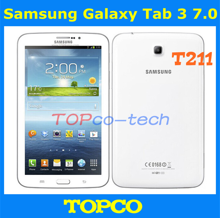 US $161 0 |Samsung Galaxy Tab 3 7 0 Original Unlocked Android T211 3G Dual  core Mobile Phone Tablet 7 0
