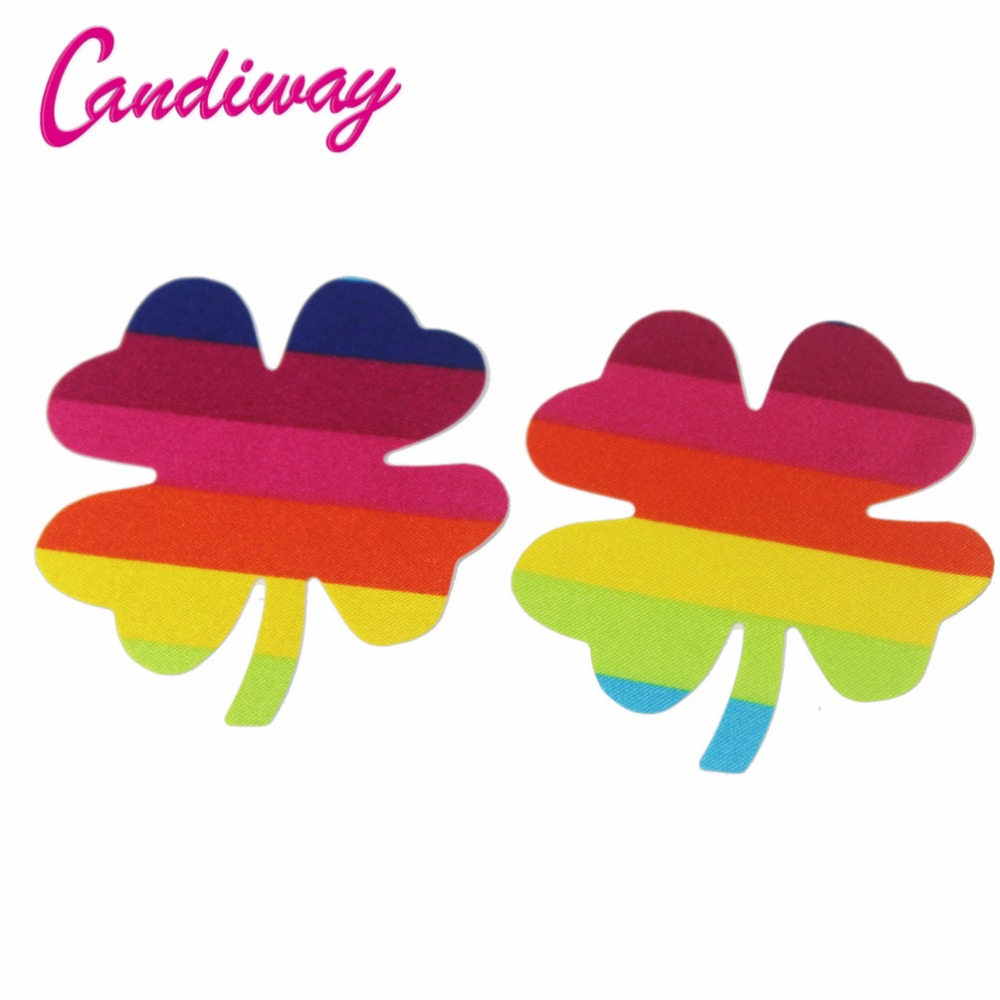 10/20/50pair Rainbow Clover Nipple sticker fashion Womens leaf Adhesive Covers Pads Breasts Milk Paste Anti Emptied Chest Bra