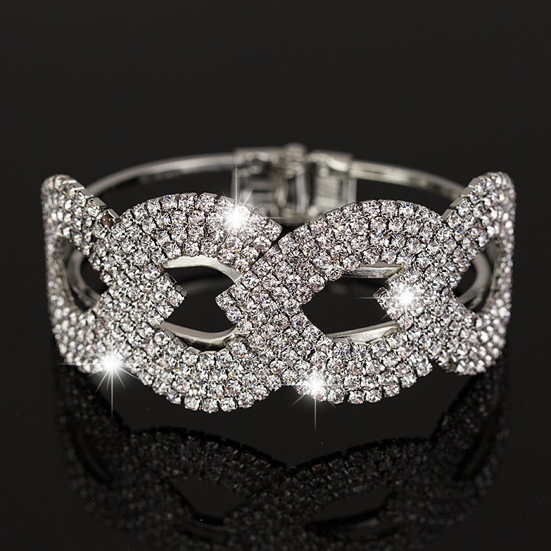 Wholesale Price New Fashion Sliver Plated Crystal