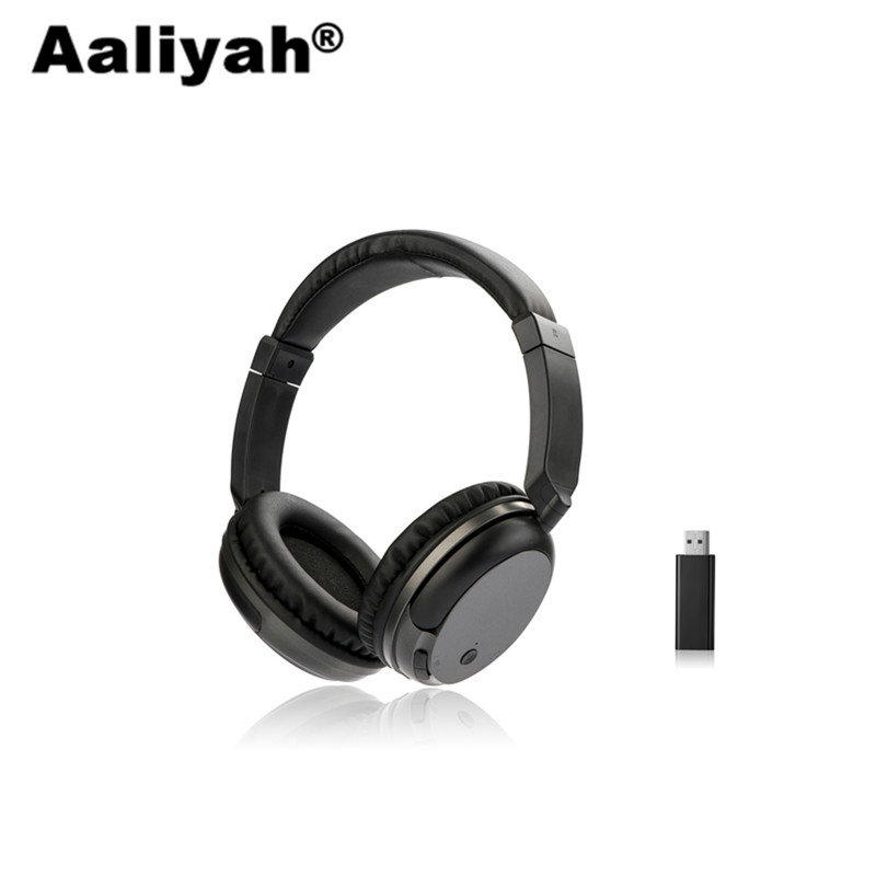 Aaliyah WS-3680 Casque Sans Fil FM Stéréo Basse RF Récepteur Avec USB Émetteur Audio TV Casques pour Ordinateur pour iphone Huawei