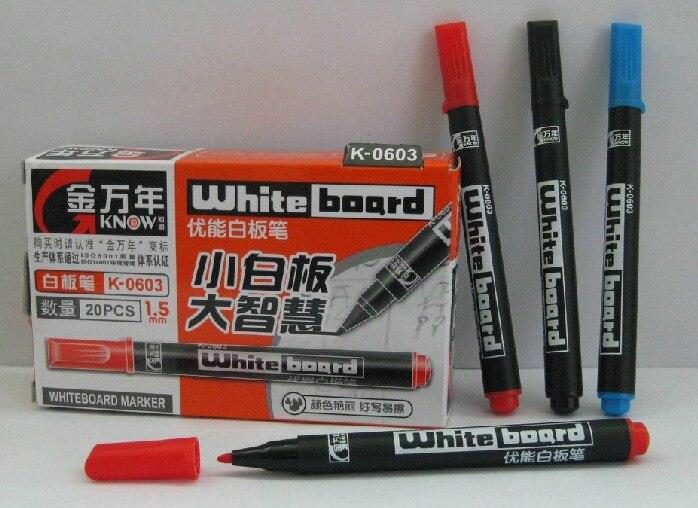 20pcs/lot Genvana k-0603 whiteboard pen gold Small line 1 mm ink 0300 20pcs lot genvana k 0603 whiteboard pen gold small line 1 mm ink 0300
