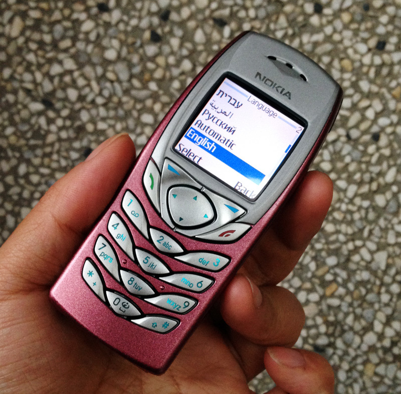Cheap Phone Original Nokia 6100 Mobile Phone 2G GSM Tri Band Unlocked Refurbished Phone Pink One