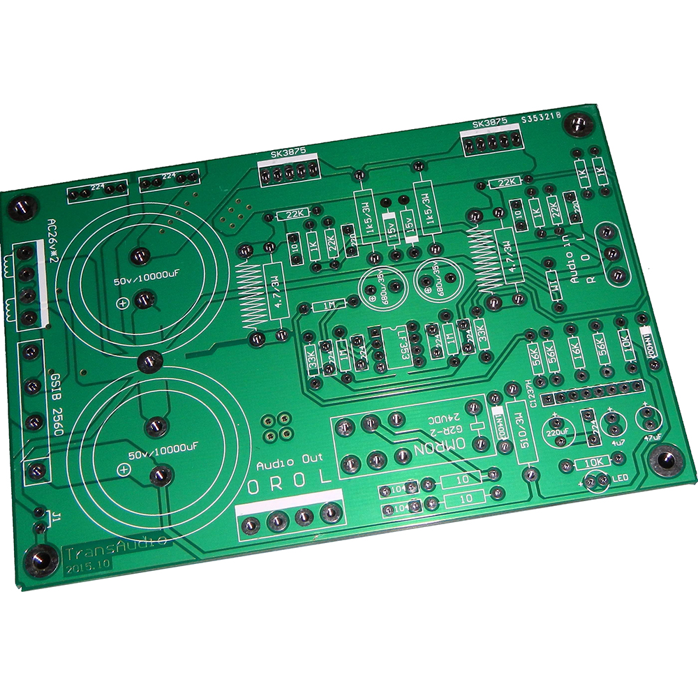 SK3875 Power Audio Amplifier Board 50W 50W 2 0 streo channel power amplifier upc1237 Original Super Transparent in Amplifier from Consumer Electronics