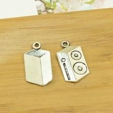 100 шт./лот A4121 античная серебряная Магнитная форма кассеты Подвеска из сплава кулон подходят для изготовления украшений 27x15 мм