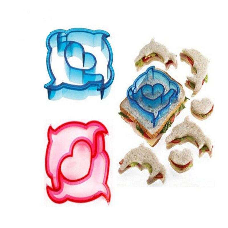 1PC Colorful Plastic Toast Convenient Sandwich Cake Cookies Molds Fruit font b Salad b font Moulds