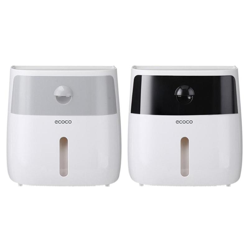 Waterproof Wall-Mount Bathroom Plastic Tissue Dispenser Paper Towel Wall Mounted Storage Box for Toilet Roll Paper Towel Holder