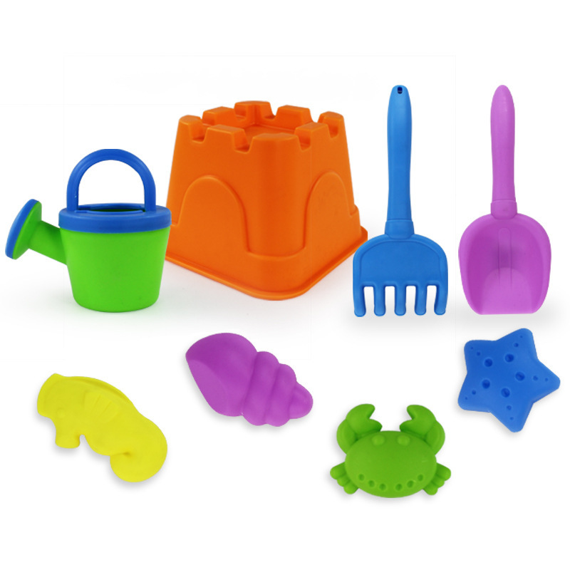 8pcs Play Dough Plasticine Mold Magic beach Sand Mold for Children indoor Play Toy Mould Cartoon DIY Set Developmental toys