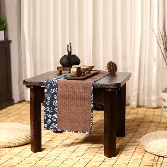 Tong Children Burn Wood Tables Simple Small Square Coffee Table Desk