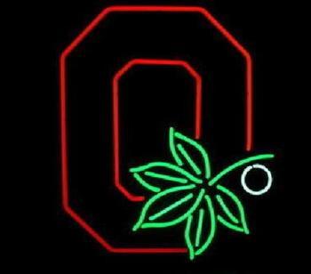 Ohio State Buckeyes Glass Neon Light Sign Beer Bar