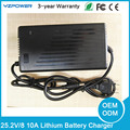25.2V 8A 10A Smart Lithium Ion Battery Charger For 21.6V 22.2V 6S Li-ion Battery