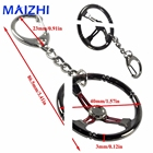 maizhi popular jewelry Keychain Sleeve Bearing Spinning Auto Part Stainless steel Car steering wheel Model urbocharger Key Ring