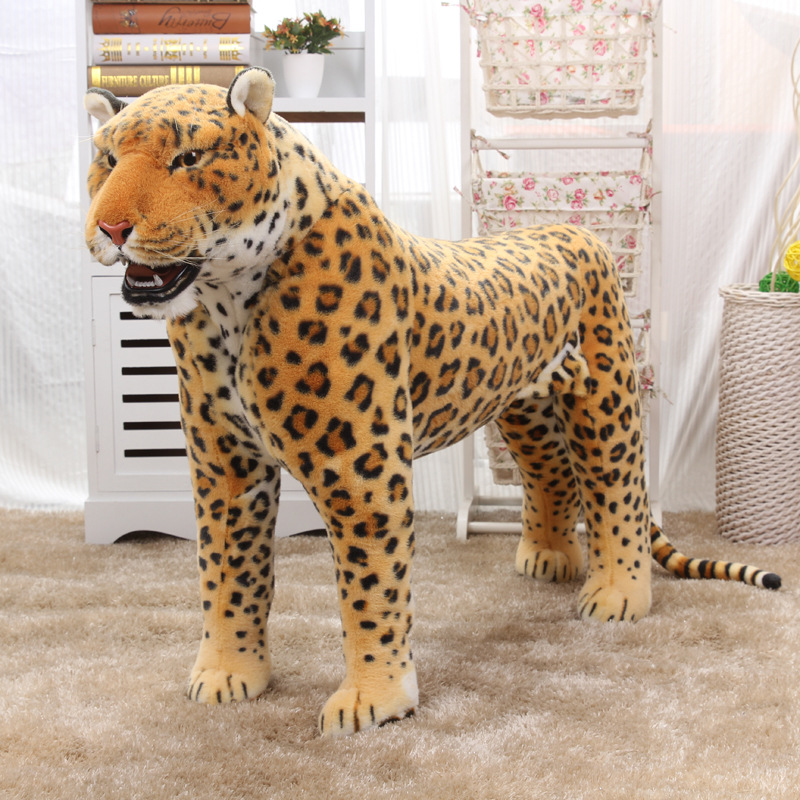 90cm Lenght Simulation Leopard model plush Leopard toy doll  cute stuffed Animal Children Birthday Gift 6pcs plants vs zombies plush toys 30cm plush game toy for children birthday gift
