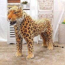 90cm Lenght Simulation Leopard model plush toy doll  cute stuffed Animal Children Birthday Gift