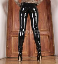 Women 's rubbe latex trousers