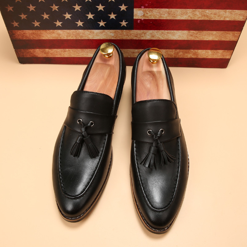 luxury brand mens pointed toe dress shoes famous loafer male gents formal wear ballet flats zapatos hombre oxford shoes for men  (12)