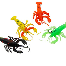 Mini Funny Rubber Lobster Simulation Children Creative Animal Fools Day Prank Toys Decoration Gifts