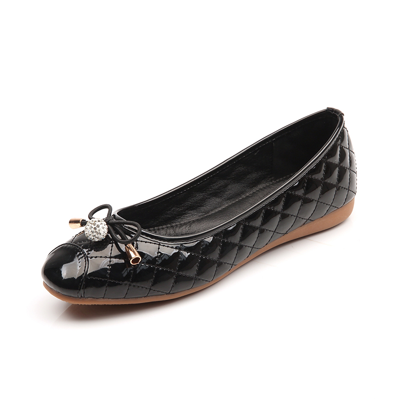 Vintage Weave PU Women Ballet Flats Spring Autumn Round Toe Bowtie Slip On Females Flats Shoes Ladies Casual Loafers