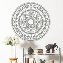 Mandala Wall Sticker Vinyl Home Decor Room Yoga Studio Murals Lotus Flower India Decals Removable Interior Design YD90