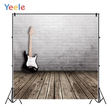 Yeele Musician Portrait Personalized Photographic Backdrops Old Brick Wall Wood Floor Photography Backgrounds For Photo Studio 12ft vinyl cloth dark old brick wall wood floor photo studio backgrounds for model newborn portrait photography backdrops f 257