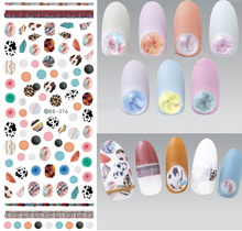 NEW DS376 Nail Water Transfer Nails Art Sticker Decal Nail Wraps Tips Diamond Gems Fur Ball Jewelry Styles Nails(China)