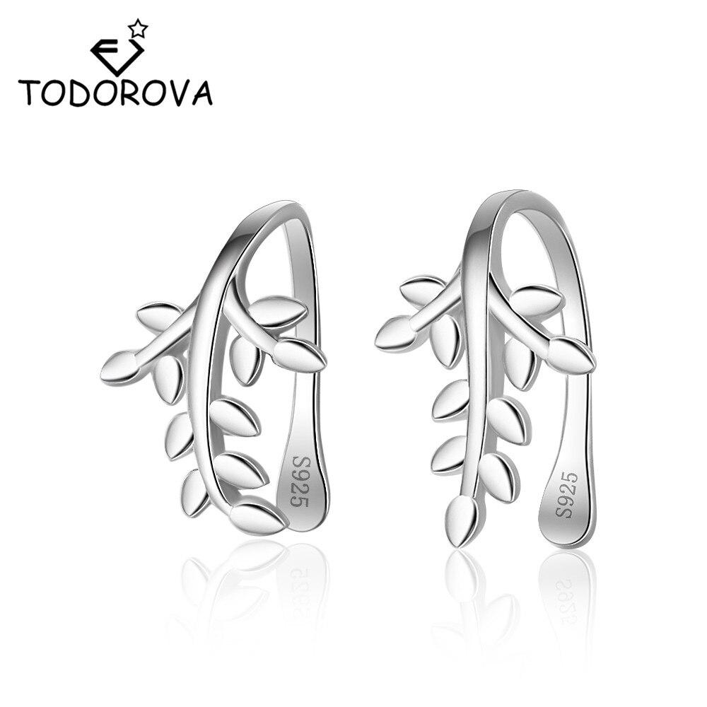 Todorova Ear Cuff Wrap Earrings Leaf Without Piercing Clip on Earrings for Women Jewelry No Hole Ear Clip