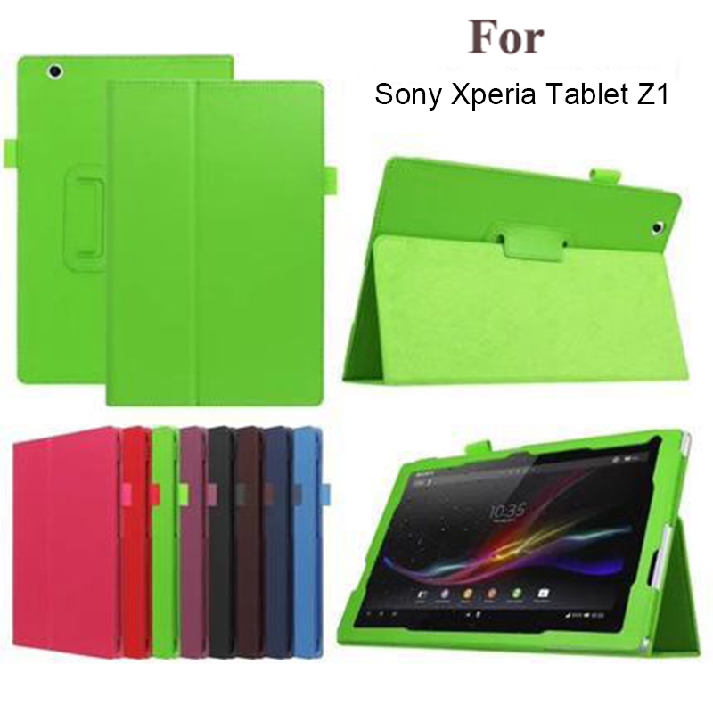 Flip PU Leather Stand Tablet Case Cover for Sony Xperia Tablet Z Z1 10.1 Protective Shell Funda Cases Cover for Sony tablet Z Z1 protective pc tpu bumper frame for sony xperia z1 compact mini black yellow page 1