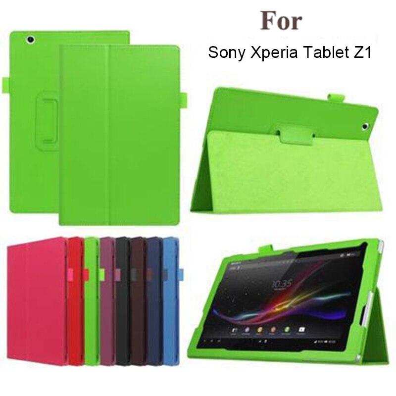 Flip PU cuero cubierta de la caja de la tableta del soporte para Sony Xperia Tablet Z Z1 10,1 Shell protector Funda para sony tablet Z Z1