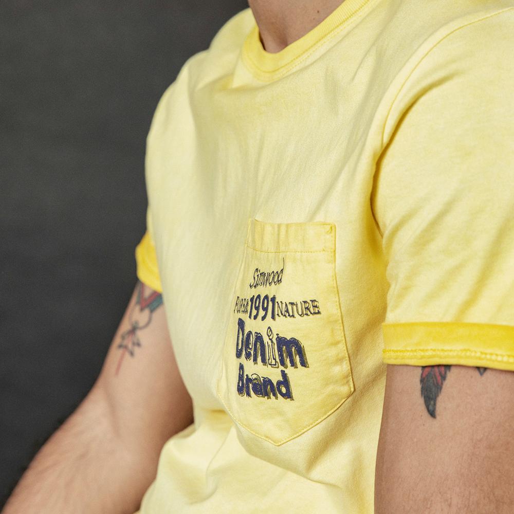 Image 2 - SIMWOOD 2020 summer new vintage t shirt men fashion washed letter print hip hop top 100% cotton tshirt plus size tee 190087T-Shirts   -