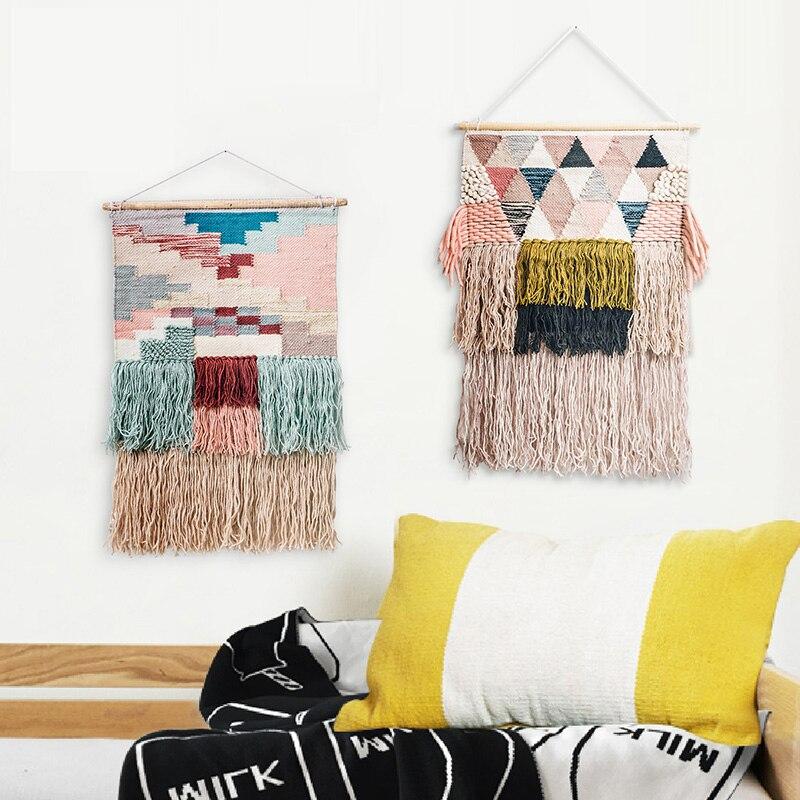Nouveau délicat luxe fait main tapisserie laine inde Style mode décorer salon chambre enfant chambre mur tapisserie offre spéciale