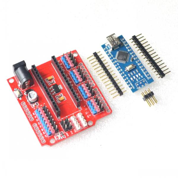 1pcs NANO Shield Expansion Board for Electric DIY SCM+USB cable Terminal Adapter for arduino nano V3.0 ATMEGA328P