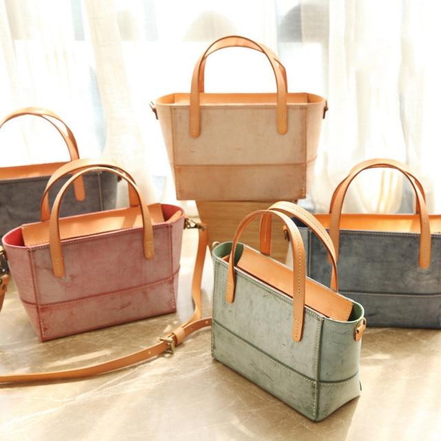 Genuine Leather Messenger Bag Women 2018 New Fashion Handbags Solid Flap Shoulder Bag Concise Sweet Lady Crossbody Bag