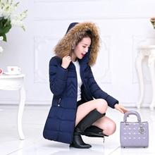 2016 зима новый женщин вниз куртка женщин в длинный участок большой шерсти воротник толще пальто куртки