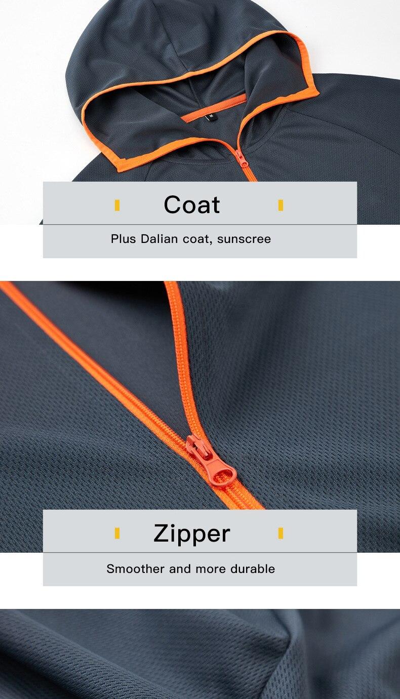 Queshark tecnologia hidrofóbica antifouling pesca jaqueta roupas