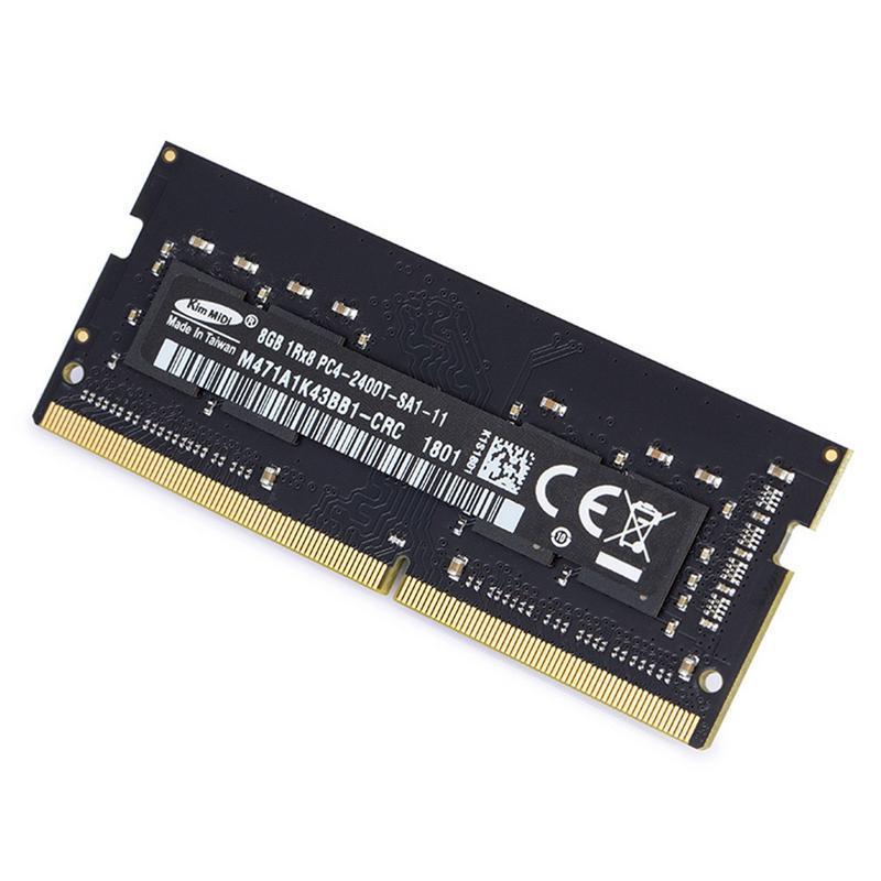 Ordinateur portable Ordinateur Portable carte mémoire RAM DDR4 PC4 8 GB 2400 Rapide Transmission jeu d'ordinateur adaptateur pour voiture Accessoire PC4-2400T Pour kimMiDi