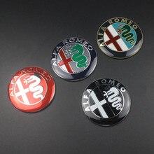 74 мм Автомобильный Стайлинг, специальный цвет для ALFA ROMEO, Красный Крест, логотип, эмблема, значок, наклейка для Mito 147 156 159 166