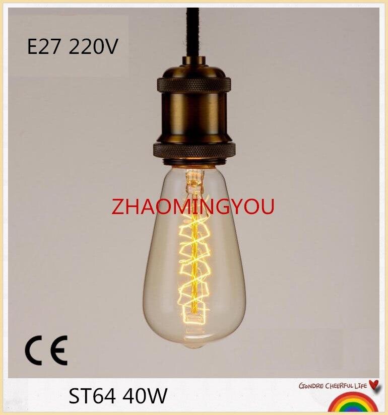 10 Pièces Edison Ampoules St64 E27 40 W 220 V Arbre De Noël Ampoules À Incandescence 40 W St64 Filament Rétro Edison Lumière Pour La Lampe Pendante