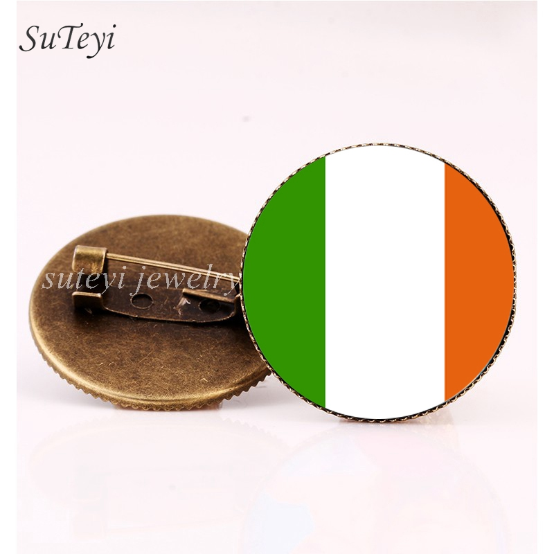 Home & Garden U.s.a Ireland Friendship Flag Metal Pin Badges For Clothes In Badges Button On Brooch Plating Brooches For Jewelry Xy0271 Arts,crafts & Sewing