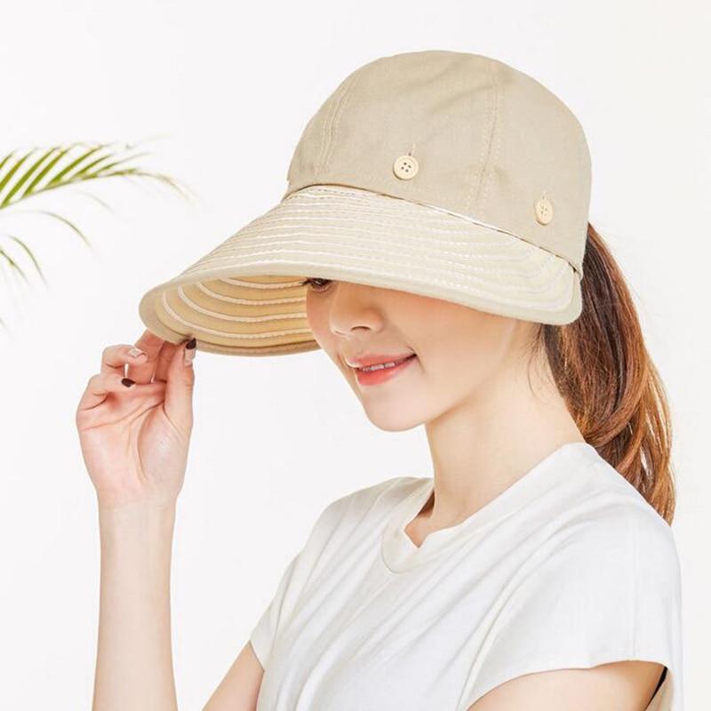 5ab2bdcc5d5 2017 Women Ladies Summer Visor Cap Tennis Sun Hat Female Girls Outdoor  Beach Hat Sports Visor Camouflage Top straw hats-in Sun Hats from Apparel  Accessories ...
