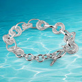 Women's 925 sterling silver link hoop bracelet fashion women sterling silver jewelry